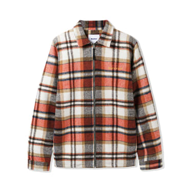"BUTTER GOODS- ""PLAID FLANEL OVERSHIRT"" (RUST)"