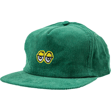 Krooked Eyes Corduroy Hat (Green/Yellow)