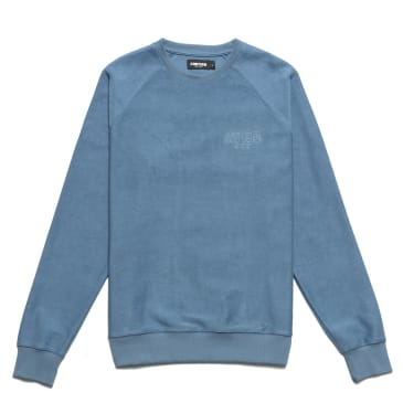 Chrystie NYC Reversed French Terry crewneck - Stone Blue