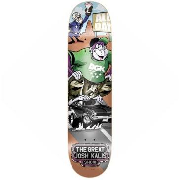 "DGK Skateboards Josh Kalis Saturday Morning Skateboard Deck 8.1"""