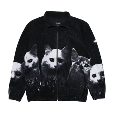Ripndip Field of Cats Sherpa Fleece - Black