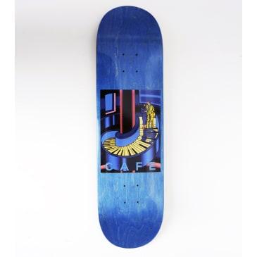 "Skateboard Cafe Piano Staircase Skateboard Deck Blue Woodstain - 8.375"""