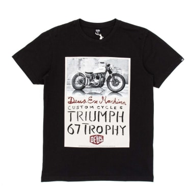 Deus Ex Machina Triumph Trophy T-Shirt - Black