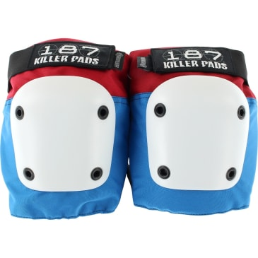 187 - Fly Knee Pads Red/White/Blue