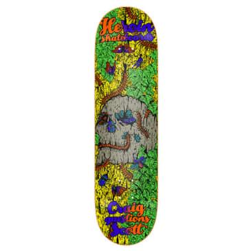 "Heroin Skateboards - 8.5"" Craig Questions Hirotion Illusion Series Deck"