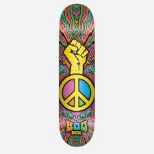DGK Boo Black Peace Deck- 8.25
