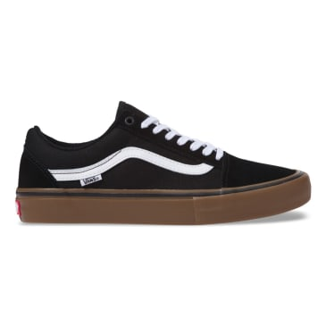 Vans Old Skool Pro Skate Shoes - Black/White/Medium Gum