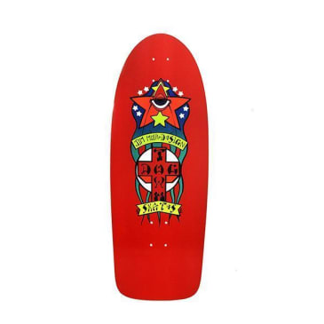 Dogtown Skateboards Triplane Re-Issue Skateboard Deck 11.00 - Red Yorkite