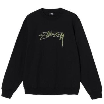 Stussy Smooth Stock Embroidered Sweatshirt Black