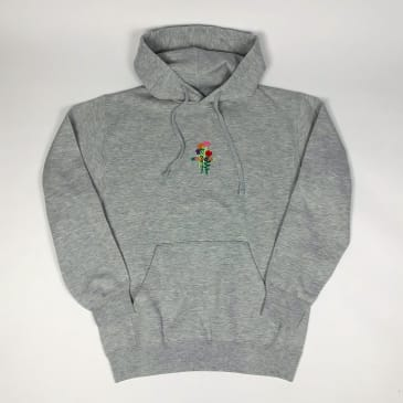 Welcome Skate Store - Rose Pullover Hooded Sweatshirt - Grey