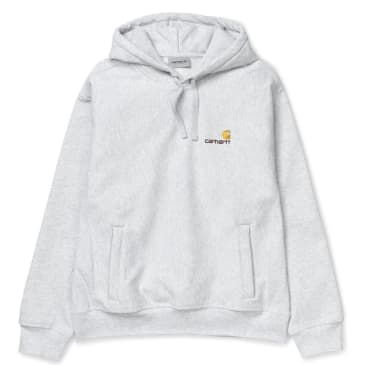 Carhartt WIP Hooded American Script Sweat - Ash Heather