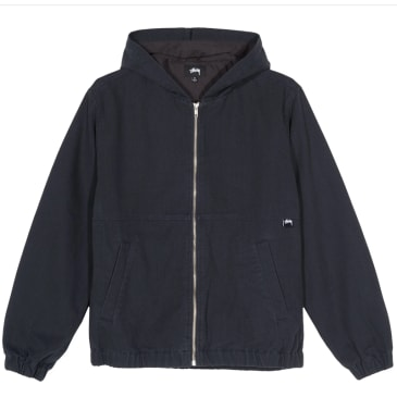 Stussy Solid Canvas Work Jacket - Black