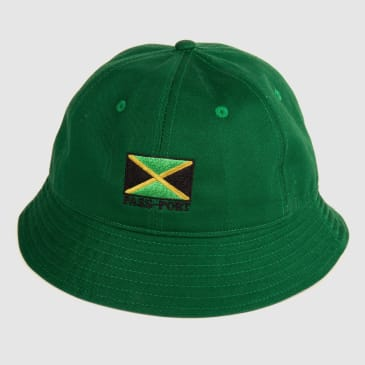 "PASS~PORT ""JAMAICA"" BUCKET CAP GRN"