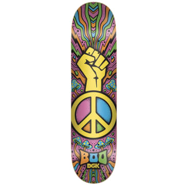 DGK Black Peace Boo Deck 8.25""
