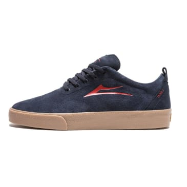 Lakai Bristol Shoes - Navy/Red Suede