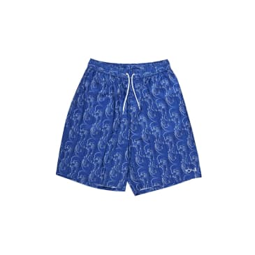 Polar Skate Co Art Swim Shorts Faces - Blue