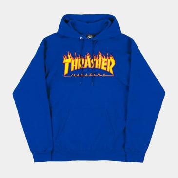 Thrasher - Flame Hood (Royal)