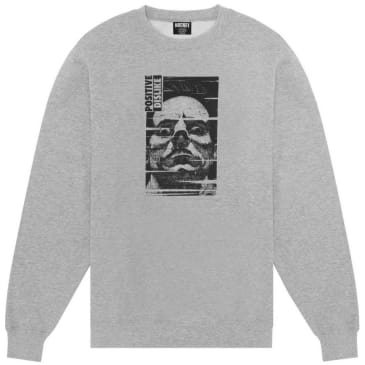 Hockey Positive Dislike Crewneck - Heather Grey