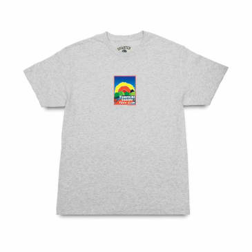 Quartersnacks Track Club Postcard T-Shirt - Ash Grey