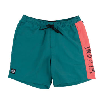 Welcome Skateboards - Solstice Nylon Volley Short (Lake/Coral)