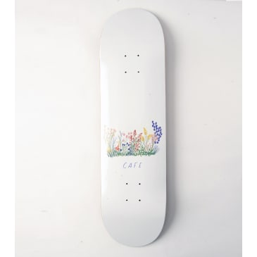 Skateboard Cafe Flower Bed Skateboard Deck White - 8.25""