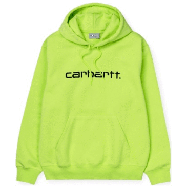 Carhartt WIP Hooded Sweat Sweatshirt - Lime / Black