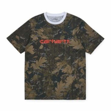 Carhartt WIP Script T-Shirt - Camo Combi / Safety Orange