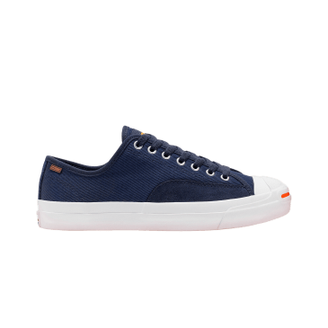 Converse Cons Jack Purcell Low Top Skateboard Shoes - Dark Obsidian/White