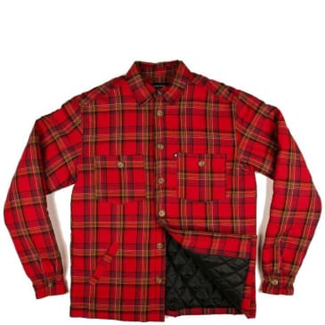 Pass~Port Late Quilted Flannel Jacket - Red