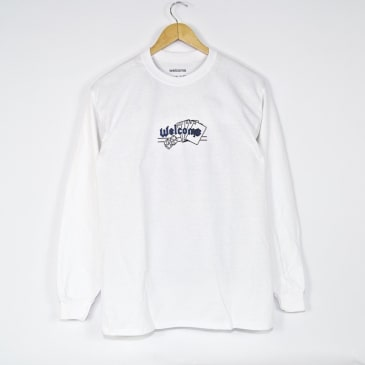 Welcome Skate Store - Royal Longsleeve T-Shirt - White