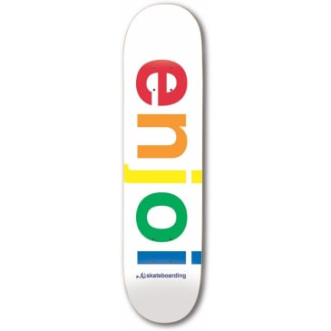 "Enjoi Spectrum White 9.00"" R7 Deck"