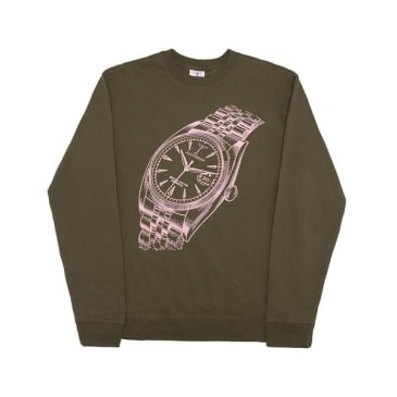 Alltimers - Big Face Crewneck Sweater (Army Green)