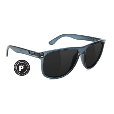 Glassy Madera Transparent Grey Polarized