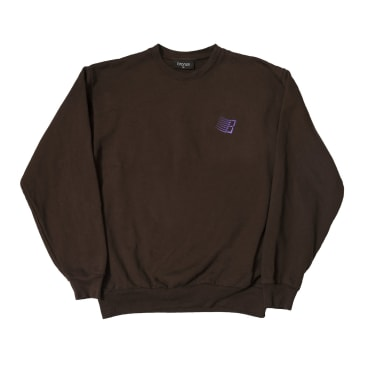 Bronze 56K Embroidered B Logo Crewneck - Chocolate