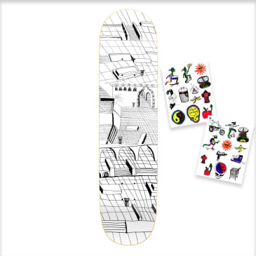 """GX1000 Joe Sticker One Skateboard Deck - 8.25"""""""