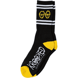 Krooked Socks Eyes Black/Yellow/White