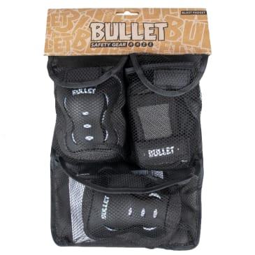 Bullet - Triple Pad Set - Black / White - Youth 3-6 Years Extra Extra Small
