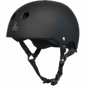 Triple Eight Protective Wear - Triple 8 Black Rubber Helmet LG