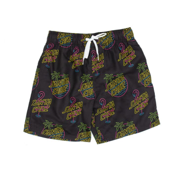 Santa Cruz Glow Swim Shorts - Black