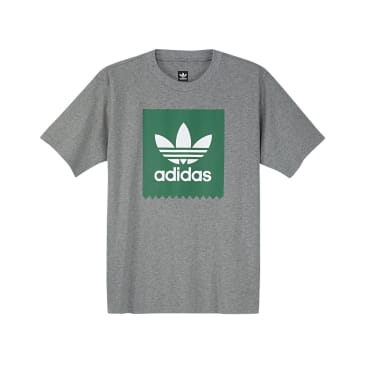 Adidas Solid BB T-Shirt - Core Heather/Green