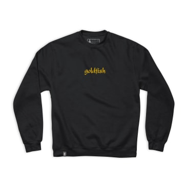 Girl Goldfish Embroidered Crew Black