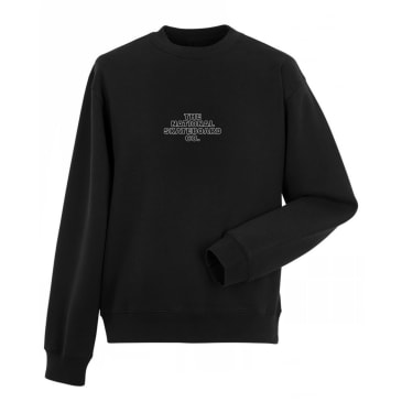 The National Skateboard Co. Classic Logo Crewneck Sweatshirt - Black