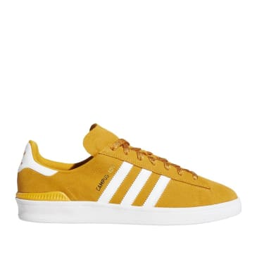 adidas Skateboarding Campus ADV Shoes - Tactile Yellow / Cloud White / Gold Metallic