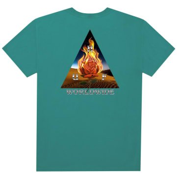 HUF Ember Rose Triple Triangle T-Shirt - Quetzal Green