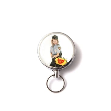 Central Booking Intl. - Book Em Retractable Keychain