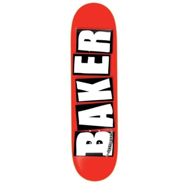 Baker Skateboards Brand Logo Skateboard Deck Red/White - 7.8