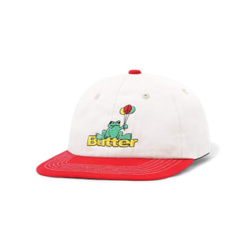 Butter Goods Frog 6 Panel - Bone / Red