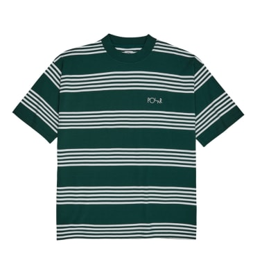 Polar Skate Co Striped Surf T-Shirt - Dark Green
