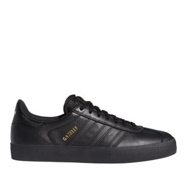 adidas Skateboarding Gazelle ADV Shoes - Core Black / Core Black / Gold Met