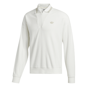 adidas Bouclette Long Sleeve Top - Off White / Savannah